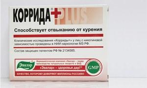 Таблетки от курения Коррида Плюс: особенности применения
