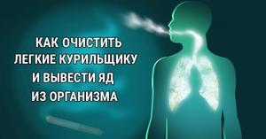 Чистка легких курильщика