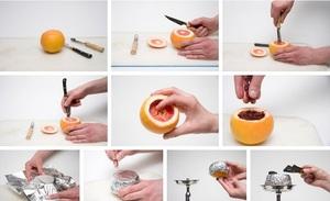 Кальян из апельсина